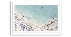 From photographer Judith Gigliotti, this image captures a stunning aerial view of the Amalfi coast. This work is printed on high-quality paper, matted, and set in a white wood frame. Fine art...