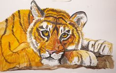 Bengal Tiger water color painting