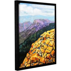 ArtWall Gene Foust Yellow Brick Road Gallery-Wrapped Floater-Framed Canvas, Size: 18 x 24, Orange
