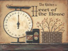 Primitive Country Prints | Heart of a Home (SS-BR188)