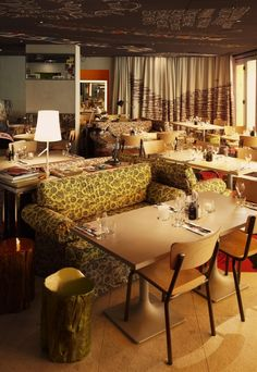 The eclectic interior design of MAMA Shelter Hotel in Marseille, France by Philippe Starck lets you experience art and furniture in a relaxed setting. The contemporary Mediterranean style reflects the urban artistic vibe of the district.