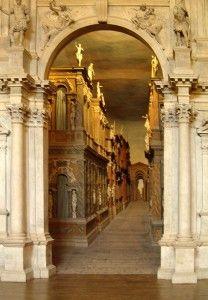 Teatro Olimpico, Vicenza, By Karen Warren. Trompe l'oiel. Article at. http://www.buckettripper.com/exploring-palladios-vicenza-a-world-heritage-site