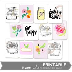 May Printable 3x4 Cards  from iHeartStudio by Two Peas @2peasinabucket