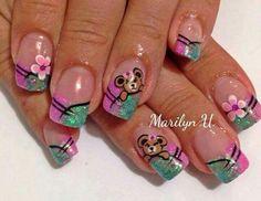 Vɨʋɨaռa Acrylic Nails, Finger, Nail Designs, Nail Art, Shapes, Beauty, Fun, Mariana, Nail Manicure