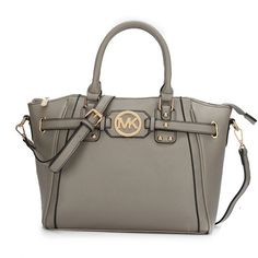 MICHAEL Michael Kors Hamilton Medium Grey Satchel