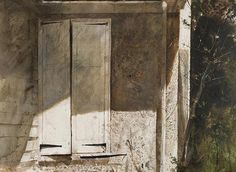 """The Studio,"" 1966 watercolor on paper © Andrew Wyeth. On view in Andrew Wyeth: A Survey at Goodwin Fine Art Oct. 30-Nov. 20, 2015."