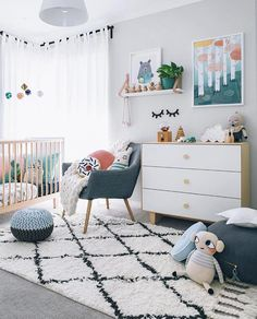 Great gender neutral nursery without tan or beige