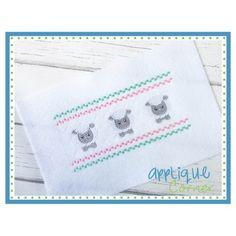 Faux Smocked Barnyard Sheep Embroidery Design