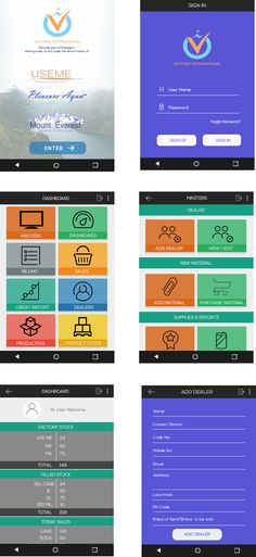 Admin Prototype for Mobile Application.