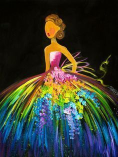 Love the Art Sherpa, This would be adorable in a girly room. 16 EASY Acrylic paintings you can do with cotton Swabs. Q-tips How to paint a girl With Rainbow Dress Easy Beginner Acrylic painting By The Art Sherpa Acrylic Painting For Beginners, Simple Acrylic Paintings, Acrylic Painting Techniques, Beginner Painting, Easy Paintings, Acrylic Art, Acrylic Painting For Kids, Acrylic Painting Inspiration, Spring Painting