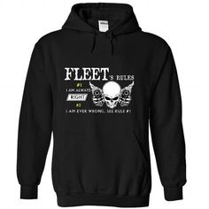 FLEET - Rule  - #gifts #monogrammed gift. HURRY => https://www.sunfrog.com/Names/FLEET--Rule-7636-Black-45100114-Hoodie.html?68278