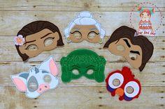 Moana Inspired Masks Maui Pua Hei Hei Te Fiti Birthday Party