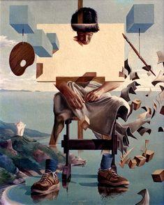 Painting by Jose Roosevelt Surealism Art, Art Visionnaire, Salvador Dali Art, Dali Paintings, Bizarre Art, Surrealism Painting, Illustration Art, Illustrations, Wow Art
