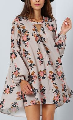 Be floral :)....love these floaty dresses over skinny jeans~