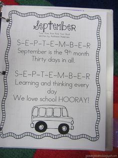Wonderful post, she has monthly calendar songs as well! Kindergarten Poems, Kindergarten Calendar, Preschool Calendar, Calendar Activities, Classroom Calendar, Calendar Songs, Calendar Time, Kids Calendar, Calendar Notebook