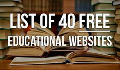 Beat The System With This List Of 40 Free Educational Websites - Tap the link to shop on our official online store! You can also join our affiliate and/or rewards programs for FREE! Educational Websites, Educational Technology, Educational Crafts, Free Courses, Online Courses, Free Education, Education Sites, Education College, Education Logo