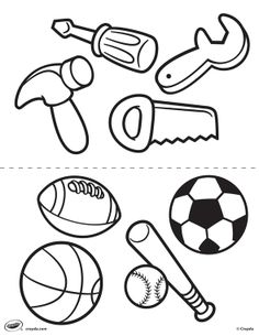first pages tools and sports - Tools Coloring Pages Screwdriver