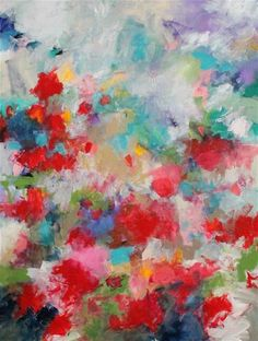 """Daily Paintworks - """"Poppies in a Meadow"""" - Original Fine Art for Sale - © Kerri Blackman"""
