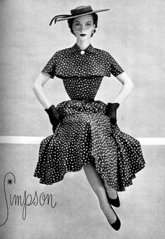 Polka dot dress, 1952
