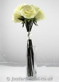 Artificial Silk Rose Bundle