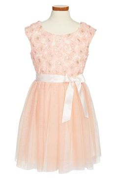 Zunie Soutache and Tulle Cap Sleeve Dress (Big Girls) available at #Nordstrom