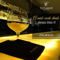 Perfect wrap up to a busy day!  Sip on the finest Vodkas, to unwind in style at Aura, The Claridges.