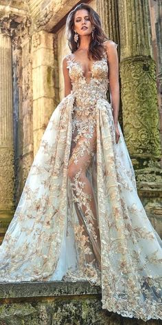 24 Unique & Hot Sexy Wedding Dresses ❤ e collected for you some sexy wedding dresses which are elegant alternatives. The trick is to focus attention on one area. It may be low back, plunging neckline, over semi-opaque material, illusion panels or gown with a slit. See more:  www.weddingforwar...   #wedding   #dresses   #sexy   Continue reading...