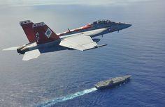 F/A-18F flies above USS George Washington in Philippine Sea. | Flickr - Photo Sharing!