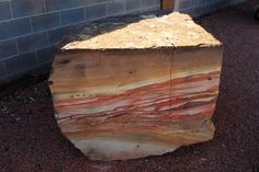 raw picture sandstone outside a shop, from the Arizona-Utah border (epod)