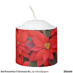 Red Poinsettias I Christmas Holiday Floral Photo Votive Candle Widescreen Wallpaper, Holiday Pictures, Votive Candles, Poinsettia, Christmas Holidays, My Favorite Things, Nice, Create, Floral