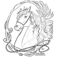 coloring pages - Free to Use Lineart Art Nouveau Peppa Pig Coloring Pages, Horse Coloring Pages, Dog Coloring Page, Coloring Pages To Print, Colouring Pages, Printable Coloring Pages, Adult Coloring Pages, Coloring Books, Art Nouveau
