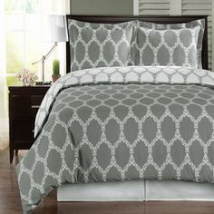 With Love Home Decor - Brooksfield Gray 100% Egyptian Cotton Duvet Cover Set, $52.99 (http://www.withlovehomedecor.com/products/brooksfield-gray-100-egyptian-cotton-duvet-cover-set.html)