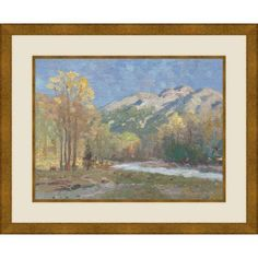 High Country Meadow, 20.5 inch x 18.5 inch Wall Art, Gold