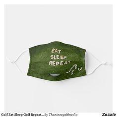 Golf Eat Sleep Golf Repeat face mask