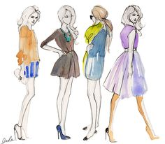 cute fashion illustrations