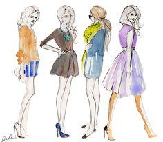 cute fashion illustrations