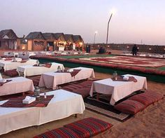 Desert Camp in Dubai. They take you into the middle of the desert for dinner. How romantic <3
