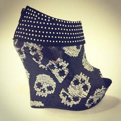 Skulls, sequins, and studs  #shoes #booties #sequins #skulls #studs #amazing