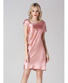 100% mulberry silk Pink Princess Asymmetrical Bridal robe