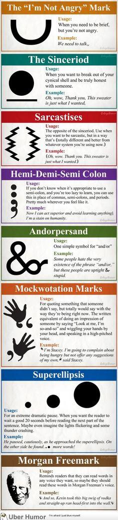 New punctuation.