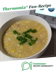 Recipe Chicken and Sweet Corn Soup by specialktoday, learn to make this recipe easily in your kitchen machine and discover other Thermomix recipes in Soups. Chicken Recipes Thermomix, Thermomix Recipes Healthy, Thermomix Soup, Cooking Recipes, Chicken And Sweetcorn Soup, Chicken Corn Soup, Sweet Corn Soup, Corn Soup Recipes, Chicken Soup Recipes