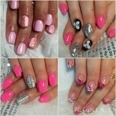 Pink tones are never out!  In combination with brilliant swarovski stones Nails got the most beautiful blink!! :)