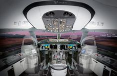 The 787 flight deck
