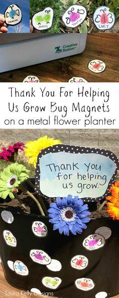 Mensagem de boa noite - Thanks For Helping Us Grow Magnet Teacher Gift