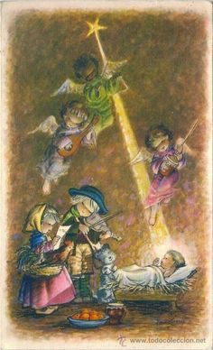 2093K - CREACIONES DIZ - FERRÁNDIZ - EDICIONES SUBI - S. 1501.3 DIPTICA 17X10,7 CM DATA 1956 (Postales - Dibujos y Caricaturas)