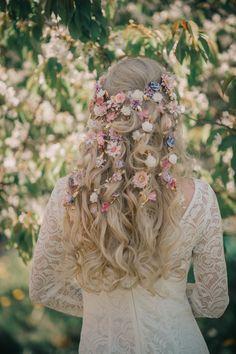 Romantic floral wedding flower crown hair accessory wreath – Hair is art Flower Crown Hairstyle, Flower Headpiece, Crown Hairstyles, Wedding Hairstyles, Hair Crown, Headpiece Wedding, Flower Hairstyles, Drawing Hairstyles, Saree Hairstyles