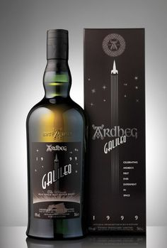 Ardbeg Galileo whisky #packaging.   Nice name and a nice image.