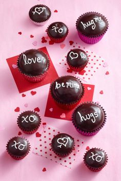 Chocolate Sweetheart Cupcakes - WomansDay.com