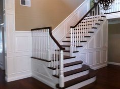 Raised panel wainscoting With Brown Walls