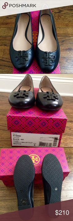 Tory Burch Lowell 2 Ballet Flat Worn once, in new condition. Comes with a box and dust bag Tory Burch Shoes Flats & Loafers